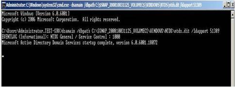 Active Directory Snapshots Windows 2008 16