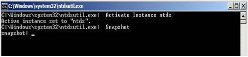 Active Directory Snapshots Windows 2008 4