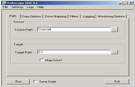 Robocopy GUI - IT World | Technology Site | Exchange