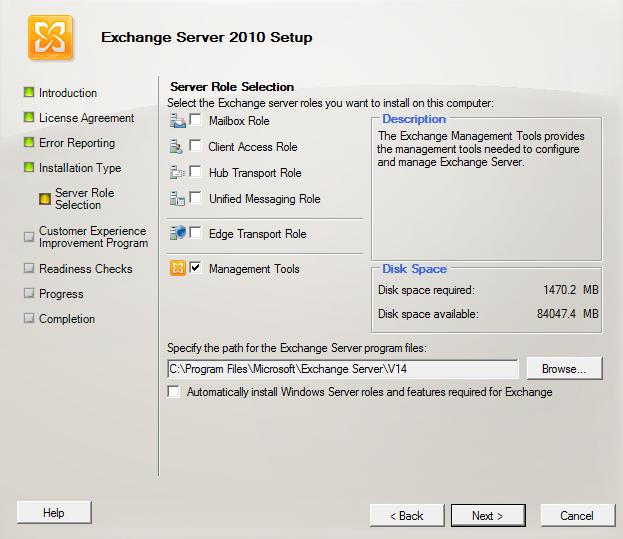 Install Exchange Server 2010 SP2 Management tools on Windows 7 - IT