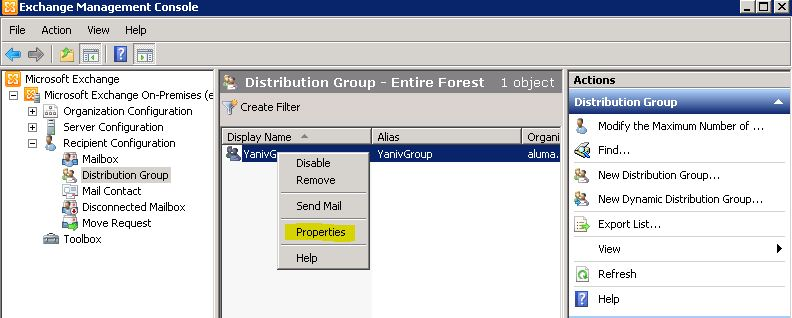 how to create group mailbox exchange 2010